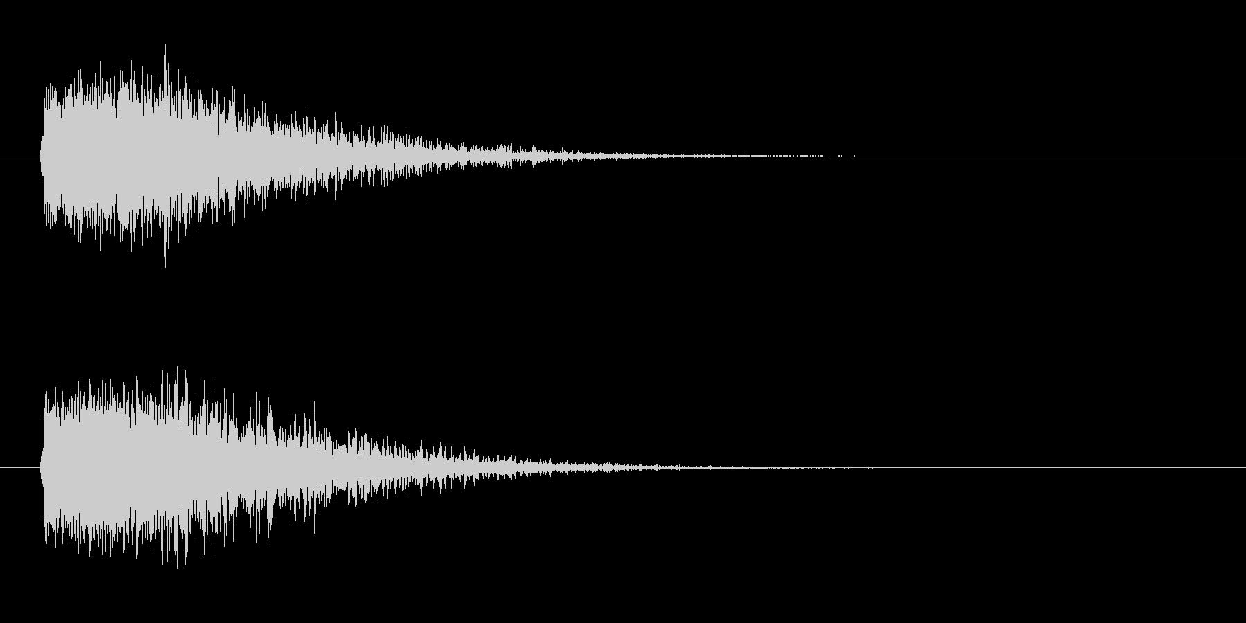 ドーン-4(ヒット音 インパクト音)の未再生の波形