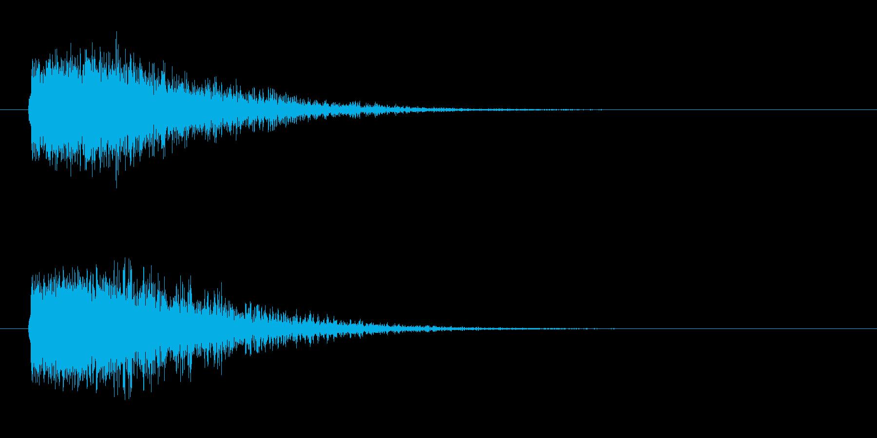ドーン-4(ヒット音 インパクト音)の再生済みの波形