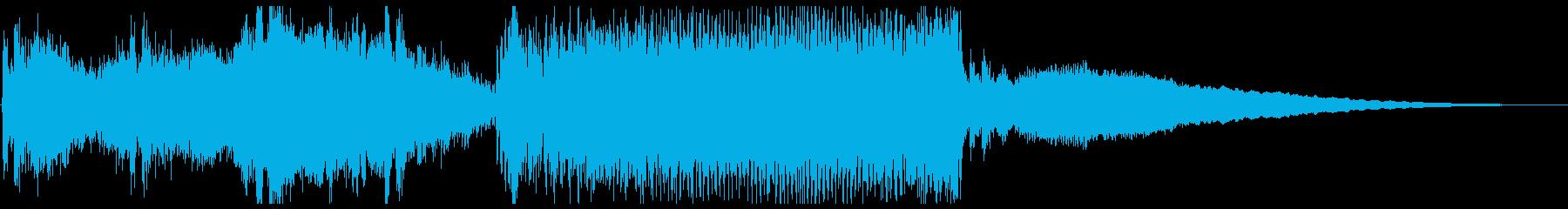 始まりで盛り上がる未来的BGMの再生済みの波形