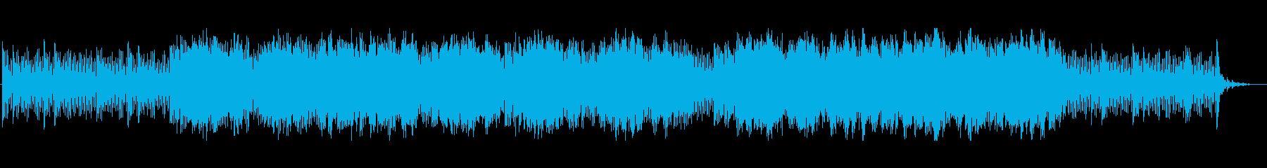 切ないシーンのシンセ曲の再生済みの波形