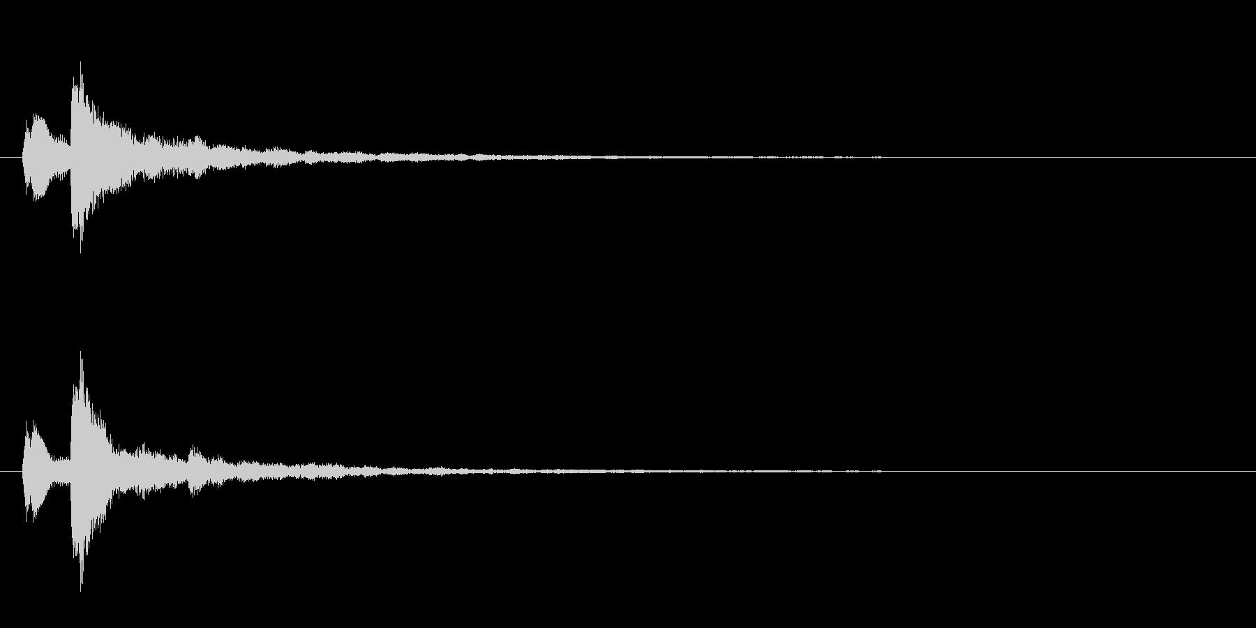 テロップ表示音~重音によるマイナー系~の未再生の波形