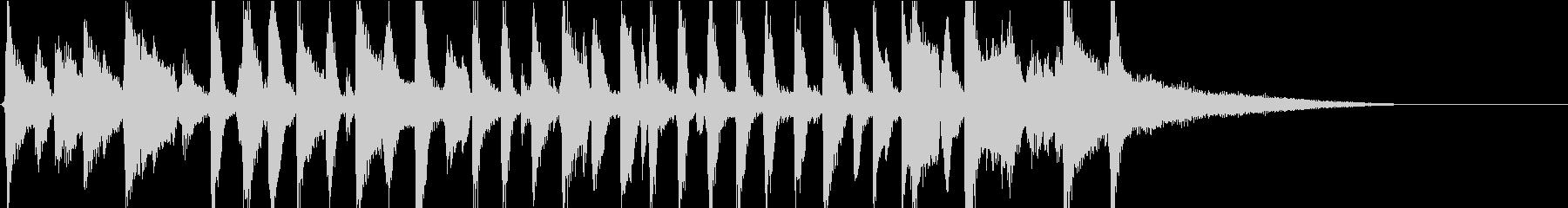 陽気なピアノオールドジャズバンドジングルの未再生の波形