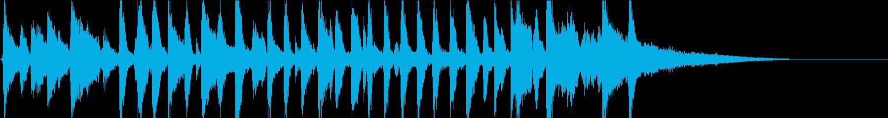 陽気なピアノオールドジャズバンドジングルの再生済みの波形