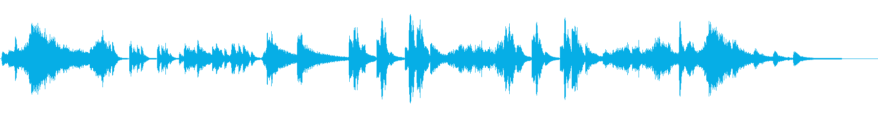 ダークなシンセとピアノのアンビエントな曲の再生済みの波形