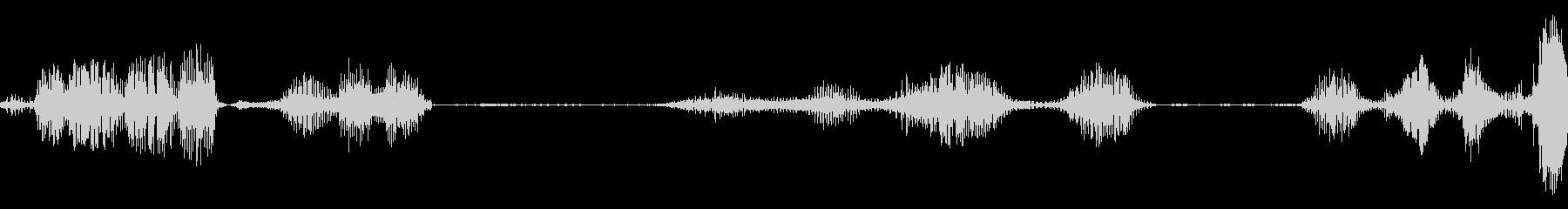 エイリアンの声が逆転、高速の未再生の波形