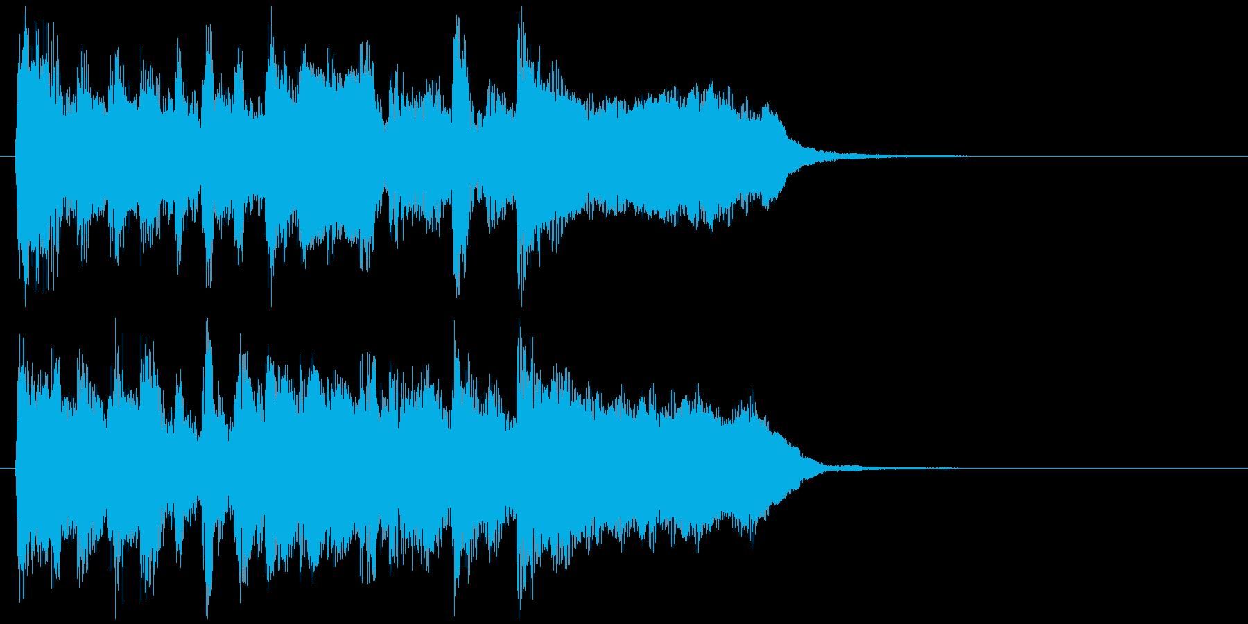 散歩系リコーダーのキュートなアイキャッチの再生済みの波形