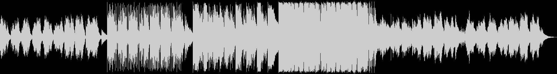 打楽器の絶妙なピアノオスチナートの未再生の波形