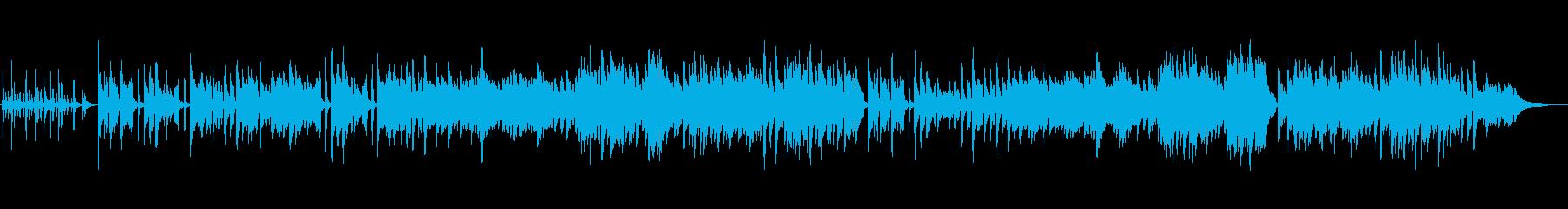 さわやかな雰囲気のピアノインストの再生済みの波形