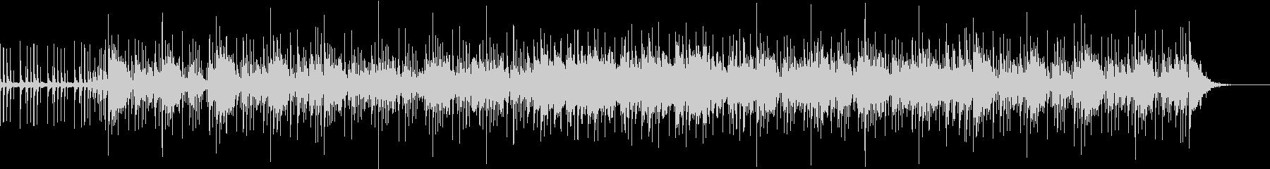 ドラムとシンセの明るいゆったりめのBGMの未再生の波形