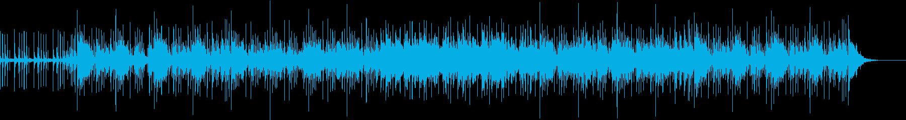 ドラムとシンセの明るいゆったりめのBGMの再生済みの波形