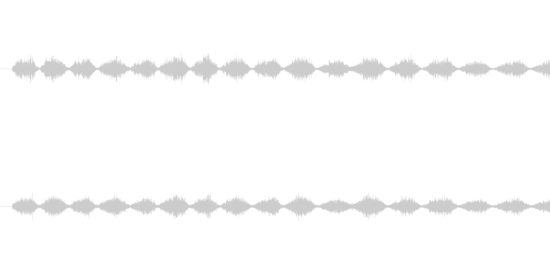 ノコギリで薄い板を切っているときの音で…の未再生の波形
