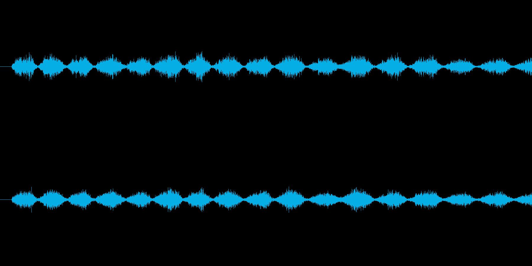 ノコギリで薄い板を切っているときの音で…の再生済みの波形