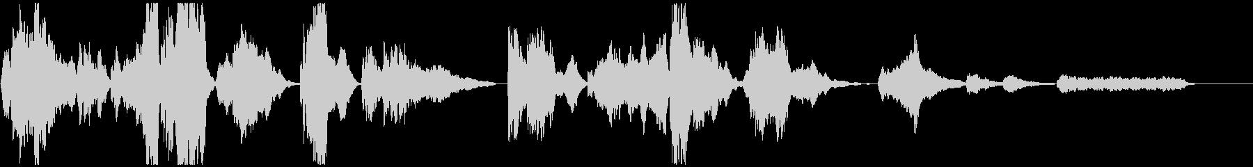 勇壮なトランペットのファンファーレBGMの未再生の波形