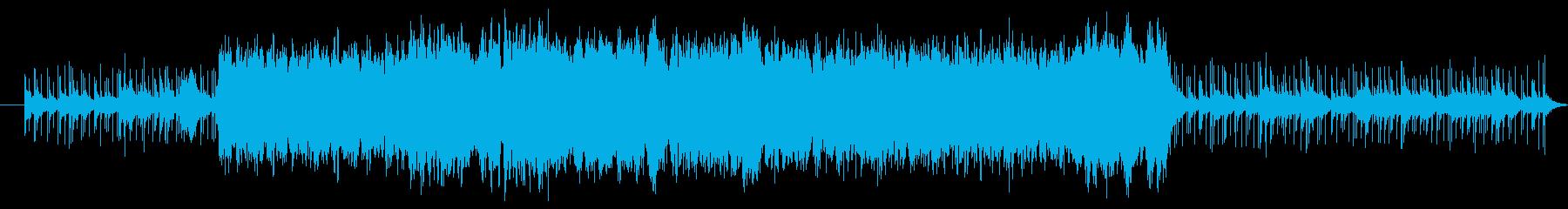 かっこいい響きのメロディーの再生済みの波形