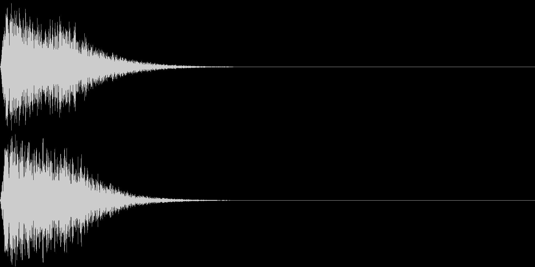 キュイン ボタン ピキーン キーン 10の未再生の波形