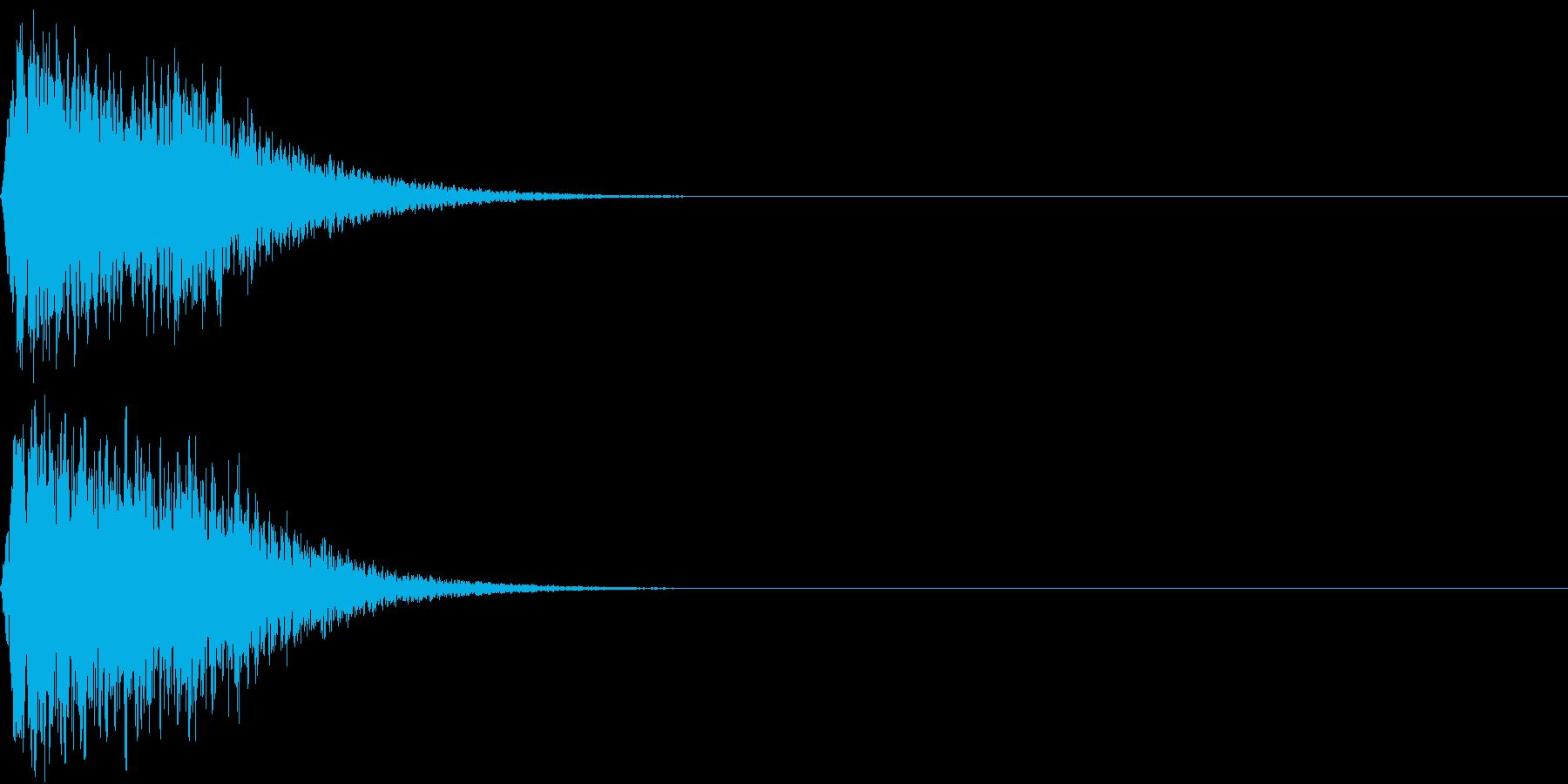 キュイン ボタン ピキーン キーン 10の再生済みの波形