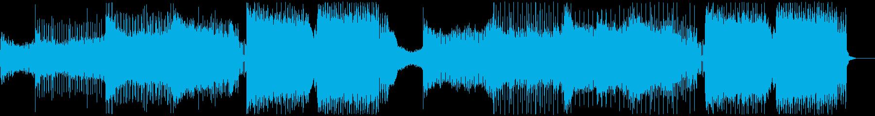 疾走感のあるキレイめな盛り上がるEDMの再生済みの波形