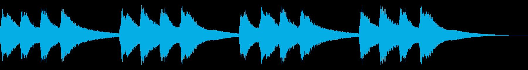 学校のチャイム,キーンコーンカーンコーンの再生済みの波形