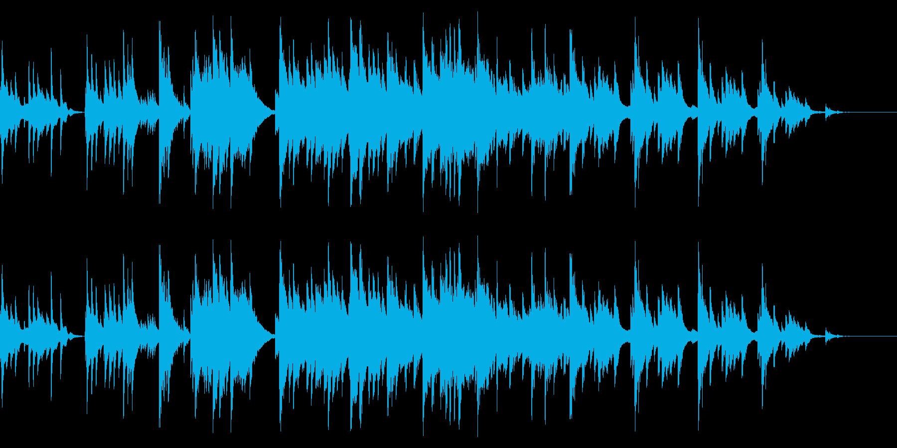 哀愁のある素朴な小曲(ピアノソロ)の再生済みの波形