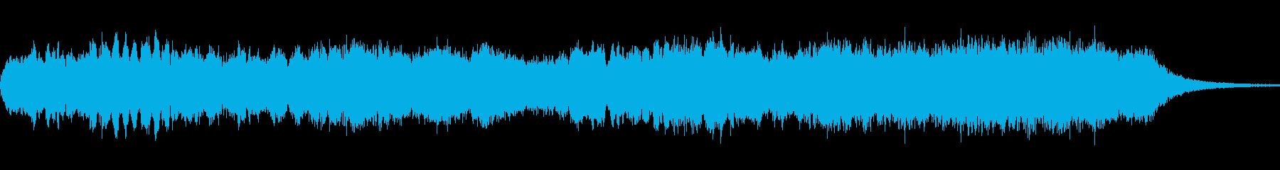 神秘的で予感めいたシンセ音楽の再生済みの波形