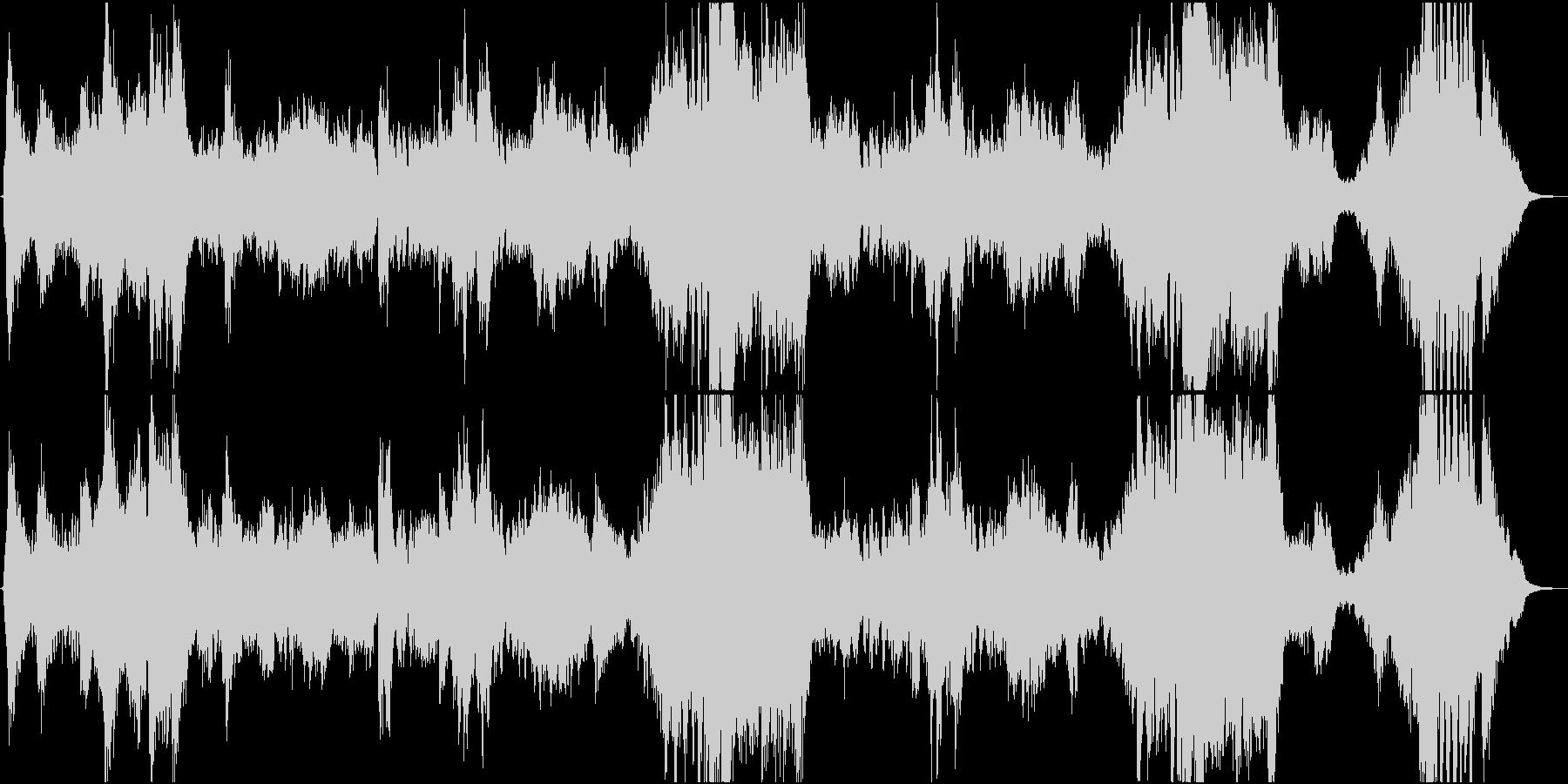 疾走感のあるオーケストラ「浮島に乗って」の未再生の波形