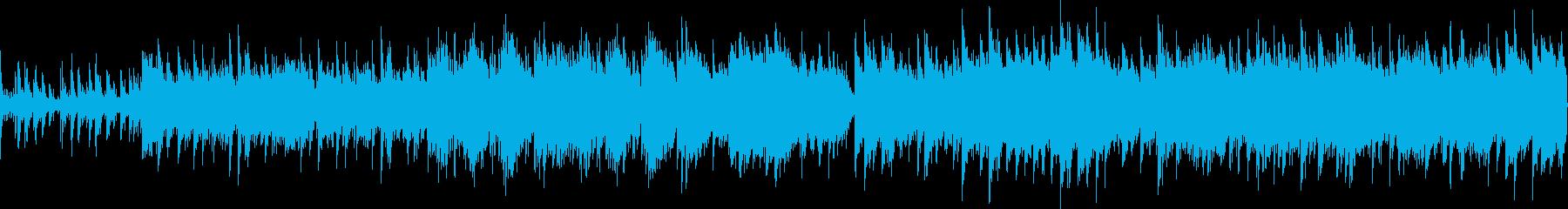ピアノ旋律が印象的なバラード(ループ)の再生済みの波形