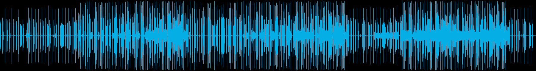 ゴスペルテイストのヒップホップビートの再生済みの波形