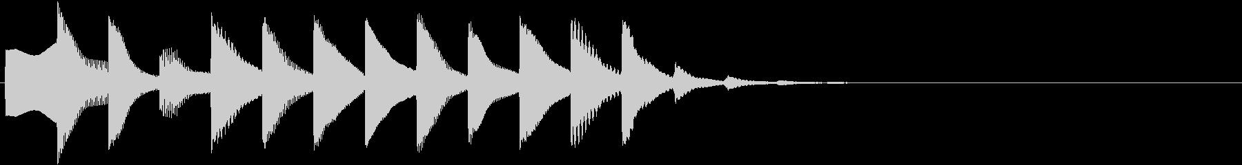 何かが始まりそうな不思議な電子音の未再生の波形