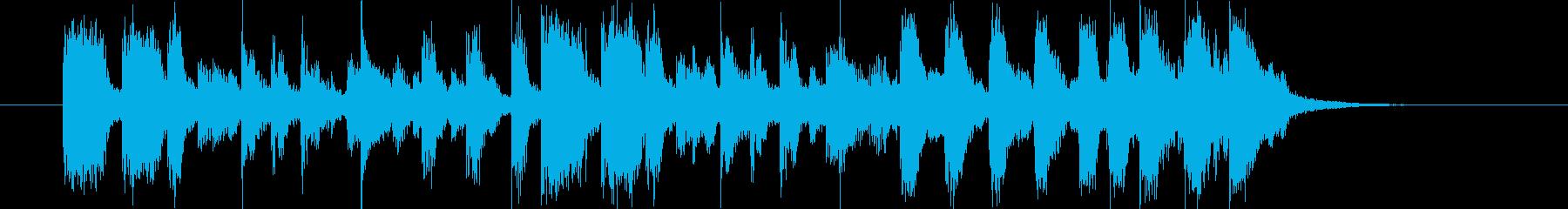 おしゃれでワクワク感ギターシンセサウンドの再生済みの波形