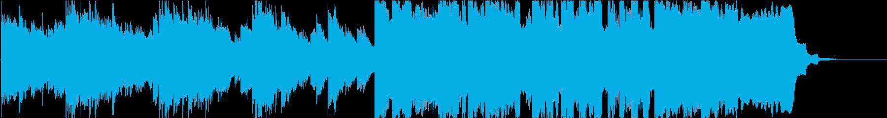 壮大で爽やかなわくわくする感動的なBGMの再生済みの波形