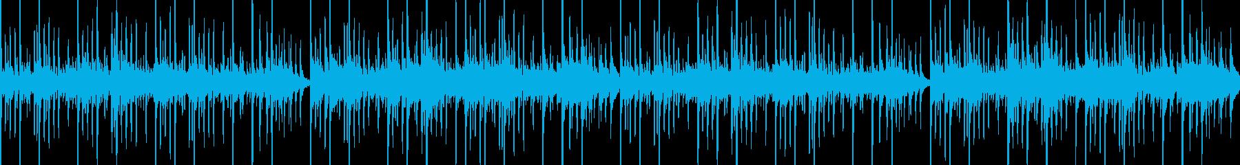 静かなエスニックBGMの再生済みの波形