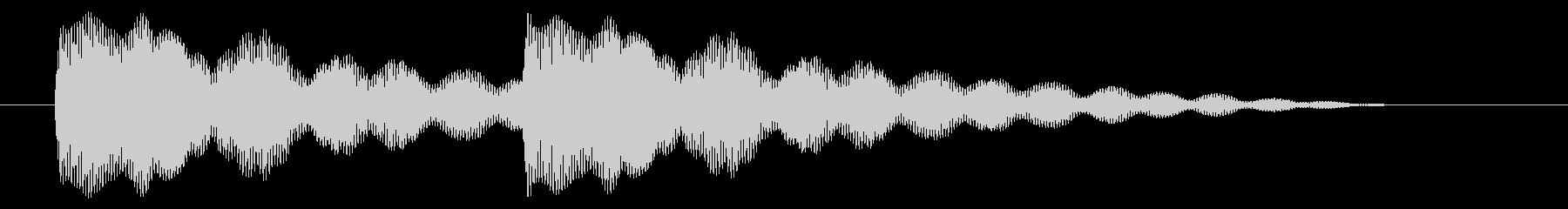ニュース アラート02-2の未再生の波形