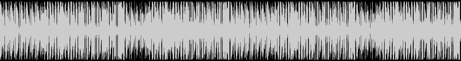 何か始まりそうな軽快なジャジーな曲の未再生の波形