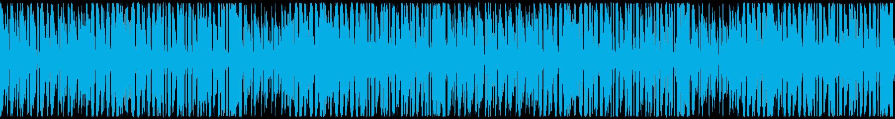 何か始まりそうな軽快なジャジーな曲の再生済みの波形