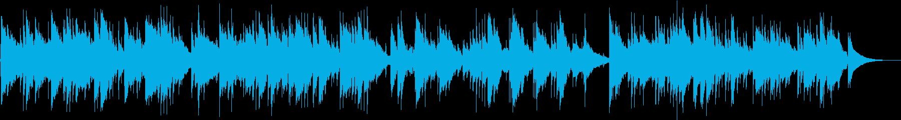 アコギ生演奏の優しく穏やかな曲の再生済みの波形