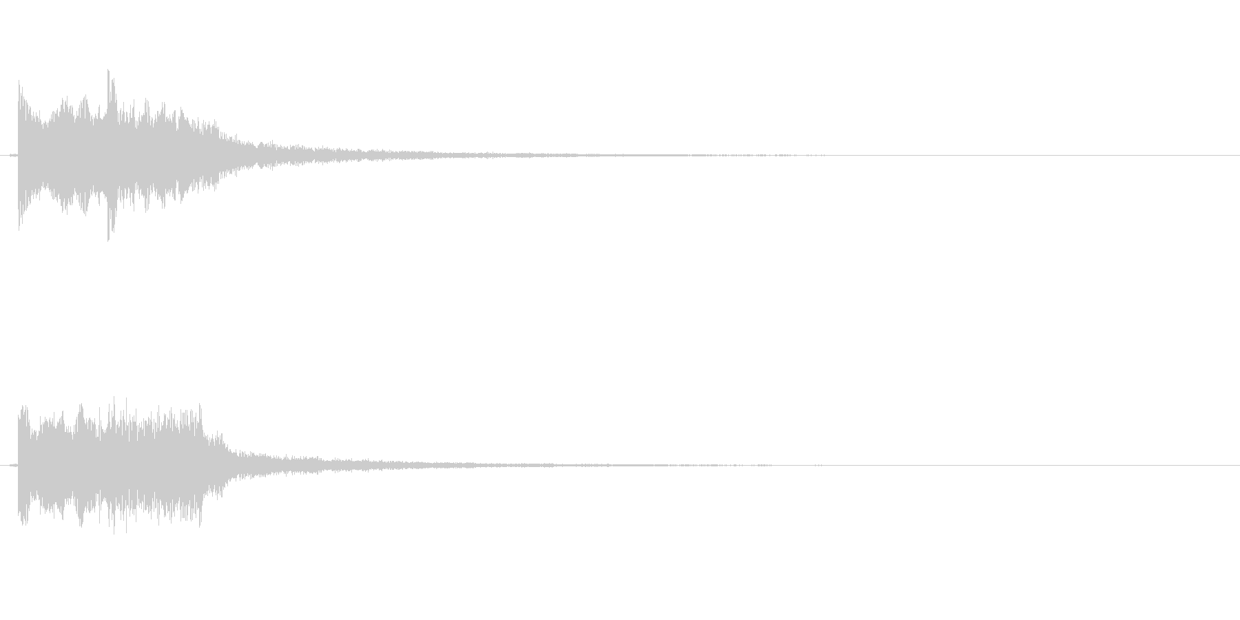 ピンポン音の未再生の波形