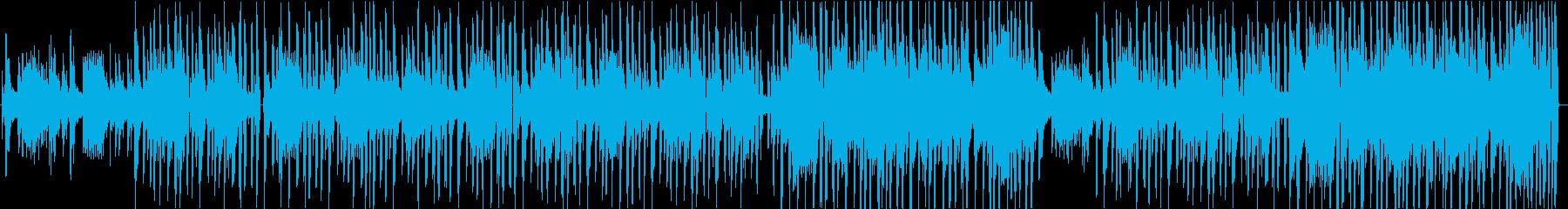 ジャジーなローファイヒップホップの再生済みの波形