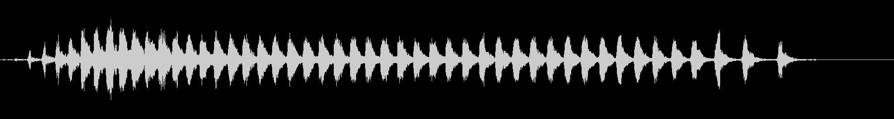 ヒグラシの鳴き声(単独・至近距離)の未再生の波形