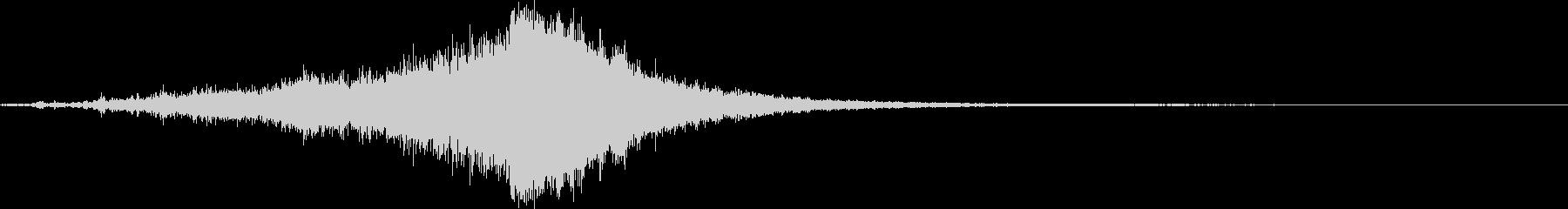 スプラッシュシンバルのロールの未再生の波形