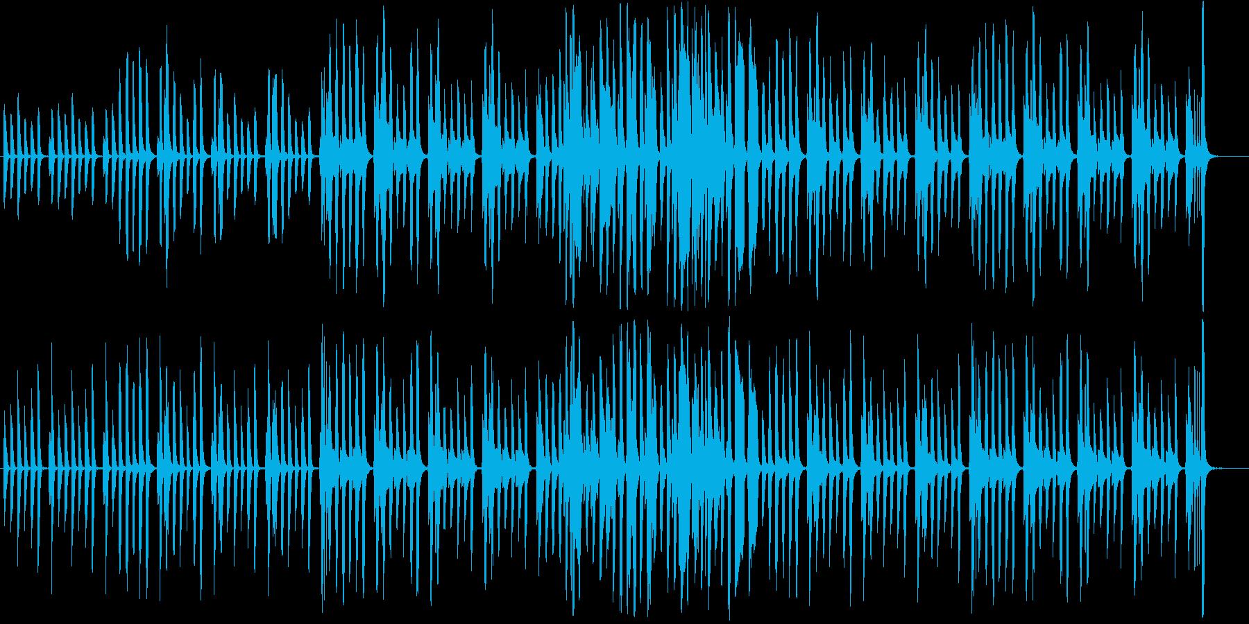 リコーダーとピアノの軽やかで可愛らしい曲の再生済みの波形