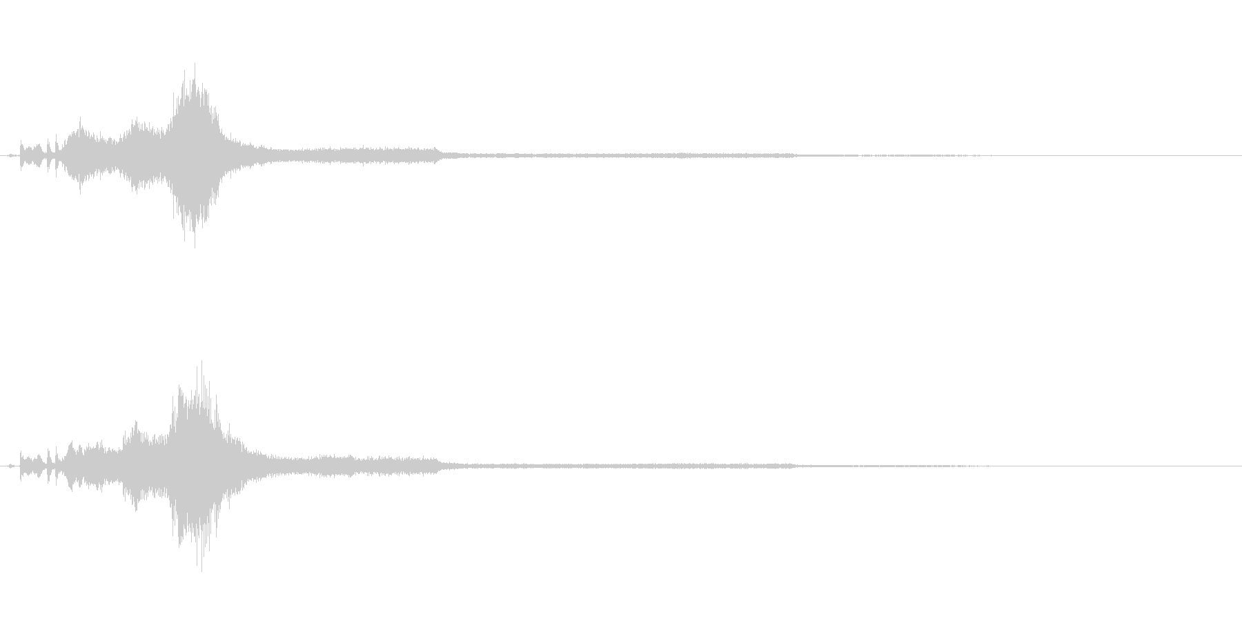 車 ドライブアウェイRev 01の未再生の波形