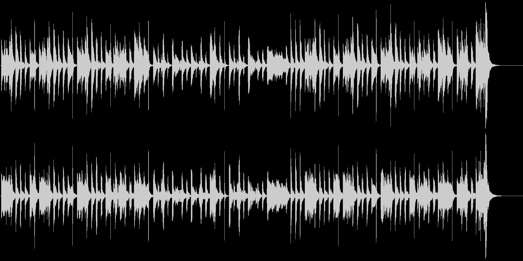 ほのぼの・可愛らしいマリンバ・小物楽器の未再生の波形