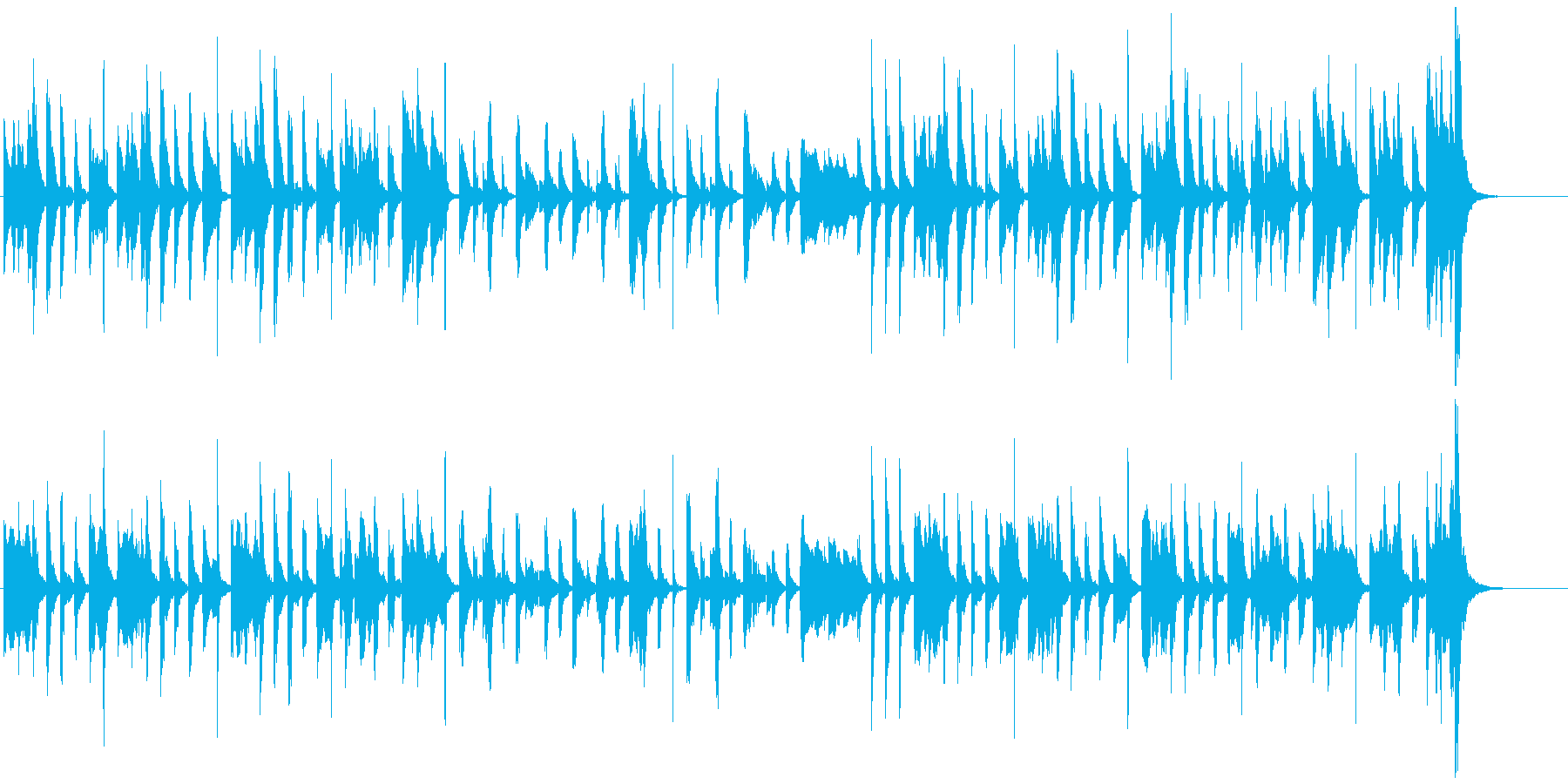 ほのぼの・可愛らしいマリンバ・小物楽器の再生済みの波形