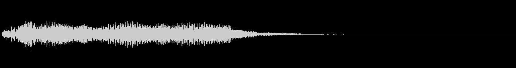 ドラキュラ登場に合うオルガンの音の未再生の波形