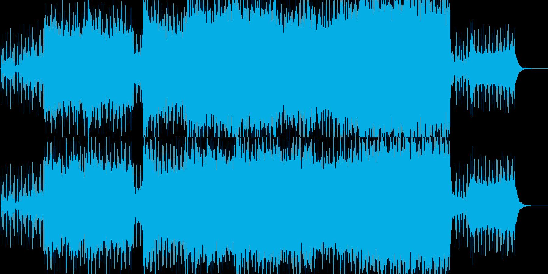 透明・哀愁感のある自然系BGMの再生済みの波形