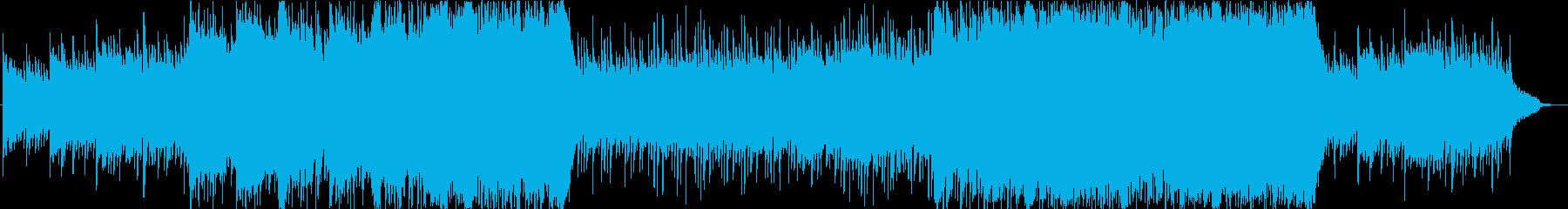 心に強く訴える音楽の再生済みの波形