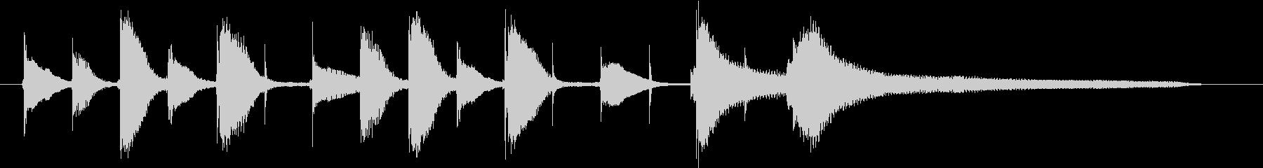 YouTube用ピアノのほのぼのジングルの未再生の波形