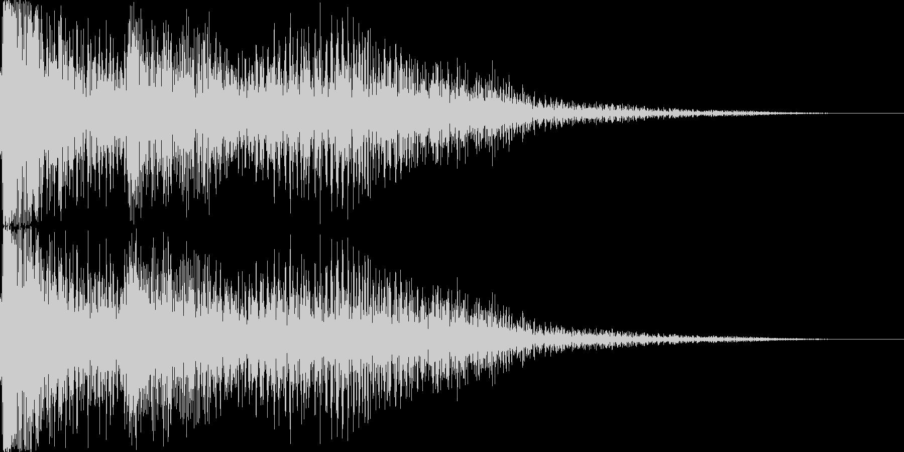 なにかに失敗したときの音の未再生の波形