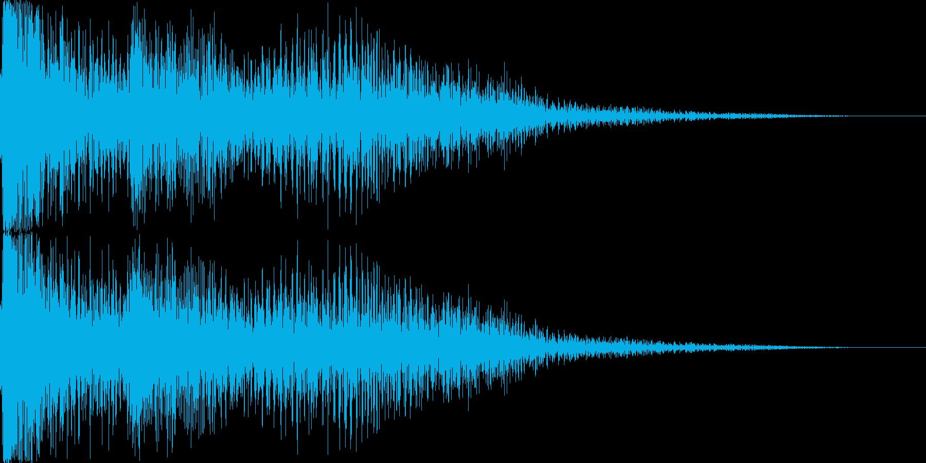 なにかに失敗したときの音の再生済みの波形