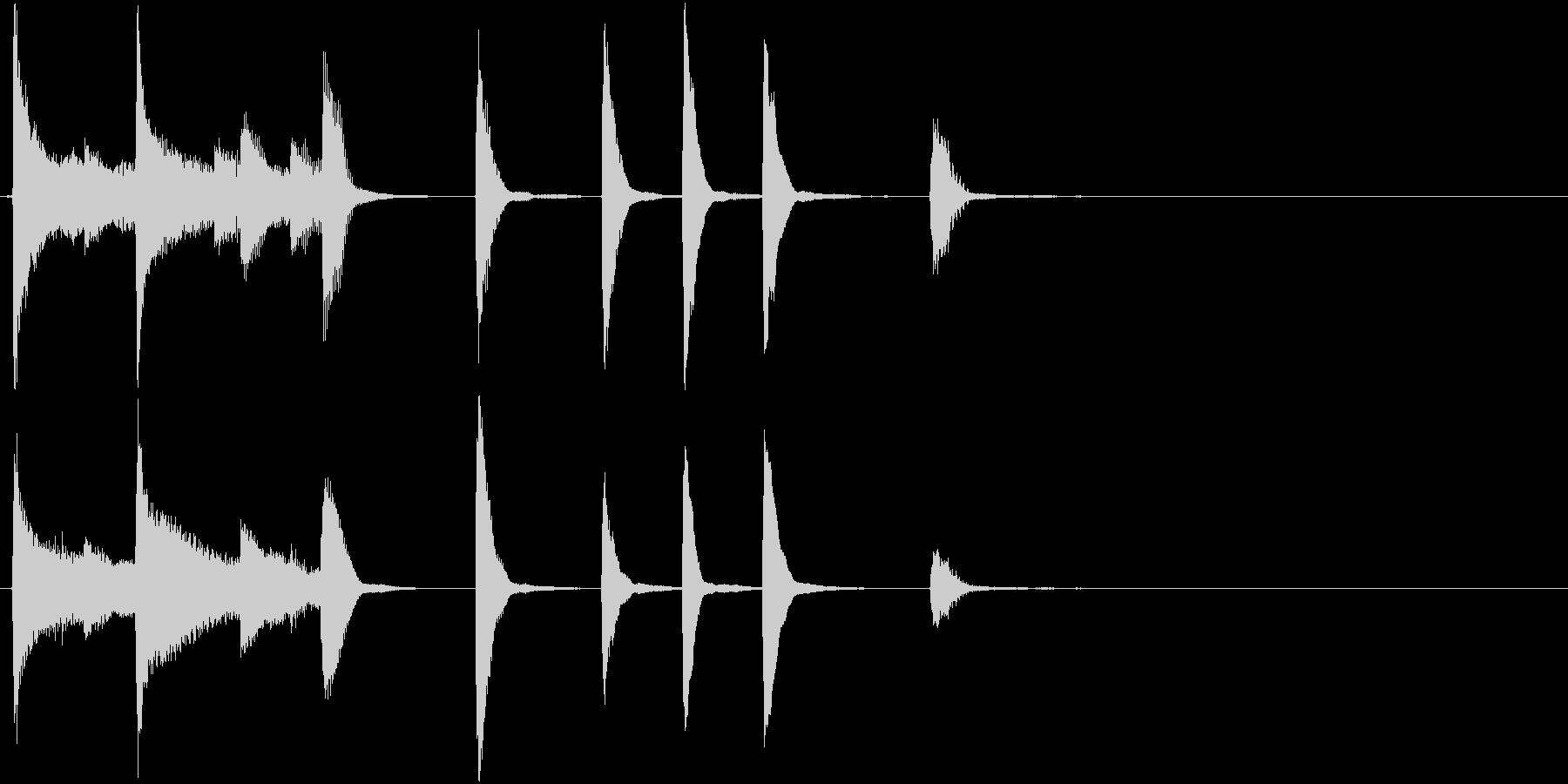 ご機嫌ブルースなピアノによるサウンドロゴの未再生の波形